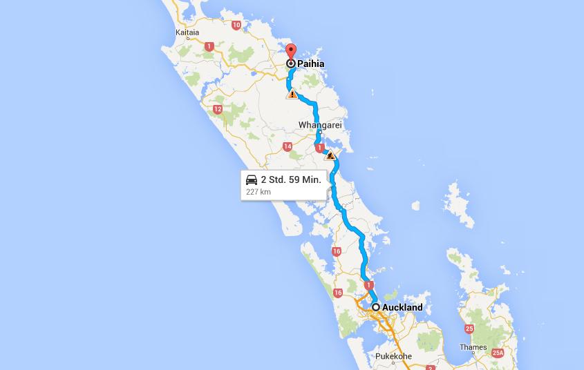 Diese Route werden wir mit dem Bus zurücklegen.